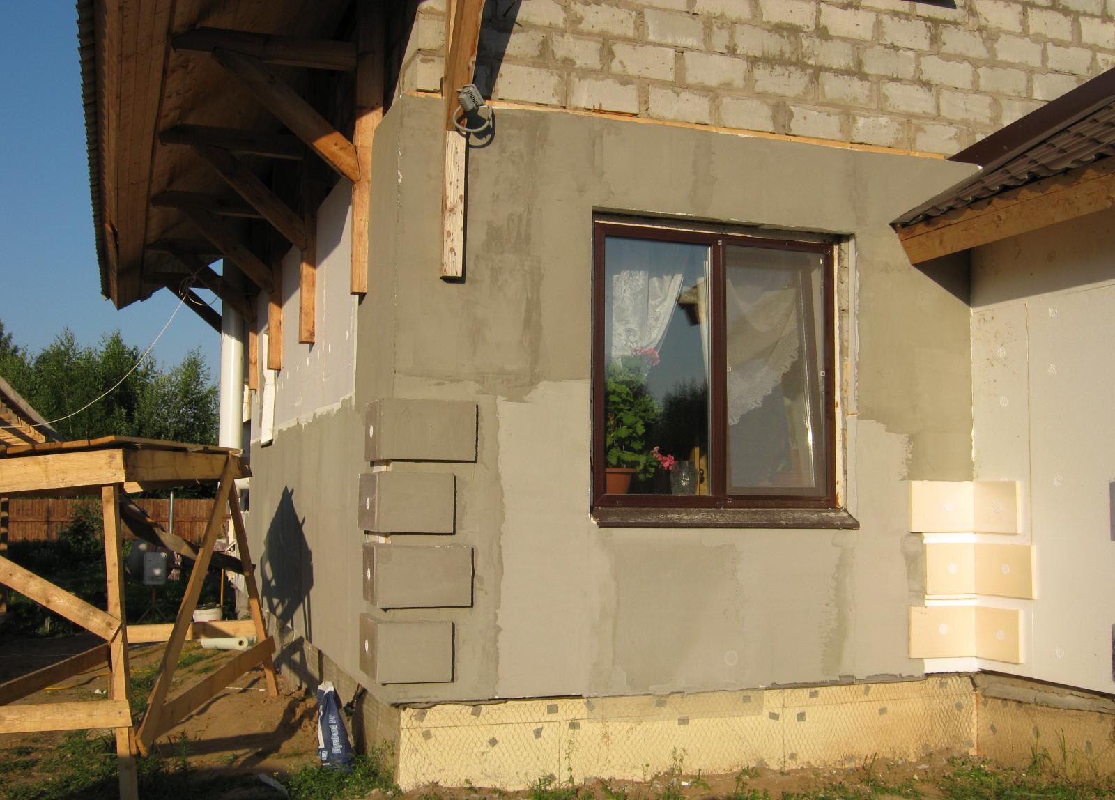 Отделка фасада дома своими руками фото