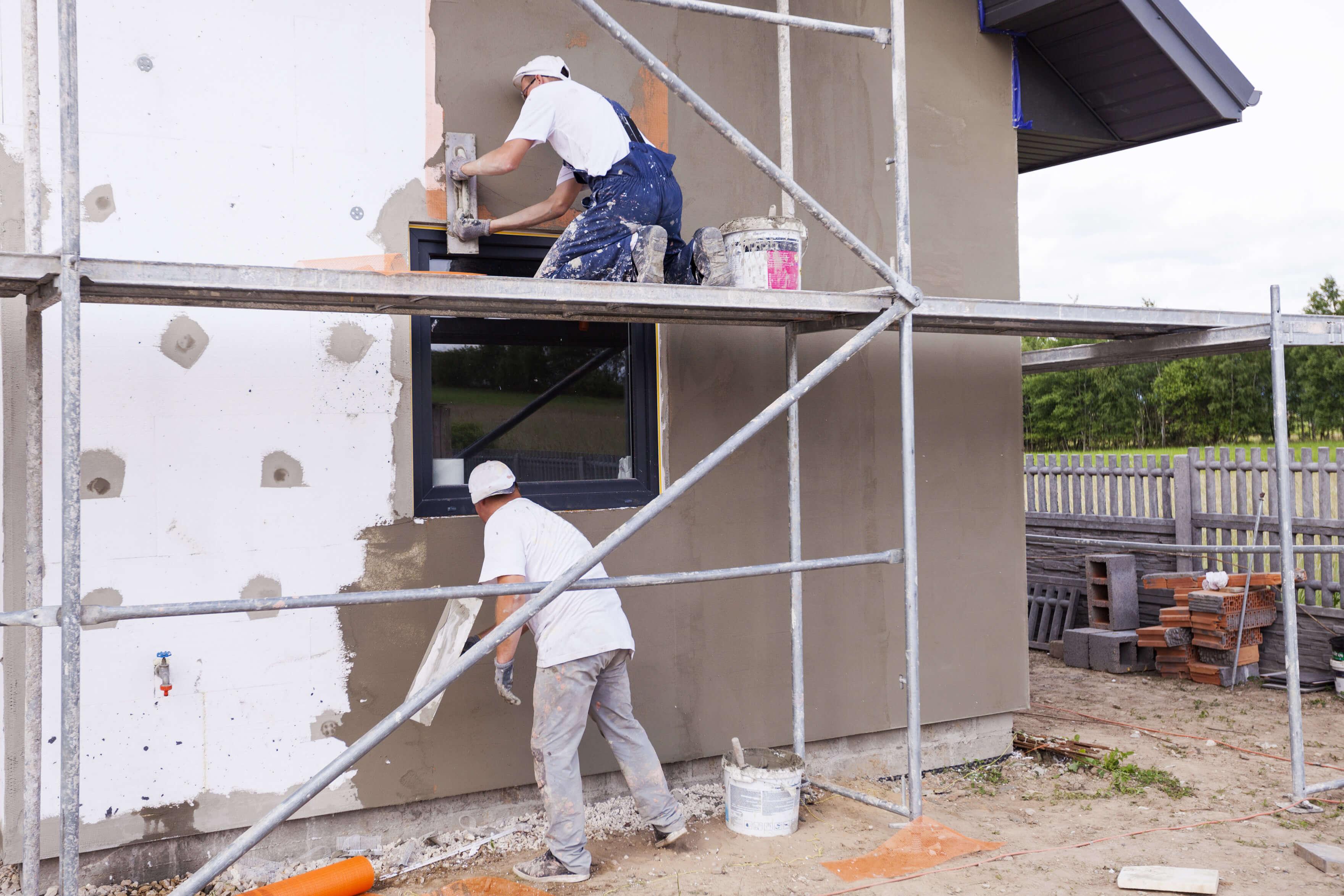 Как сделать фасад дома пенопластом