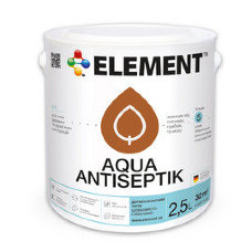 ELEMENT Aqua Antiseptik (белый) лазурь для дерева 10л