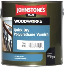 Johnstones Quick Dry Polyurethane Varnish Clear Glos водный лак для стен 2,5л
