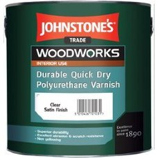 Johnstones Quick Dry Polyurethane Varnish Clear Satin лак для стен 2,5л