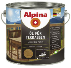 Alpina Oil fur Terrassen масло для террас 5л